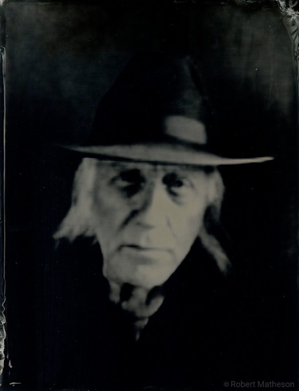 Portrait of Campbell McCubbin - WetPlateProject.com Remote tintype photograph by Robert Matheson